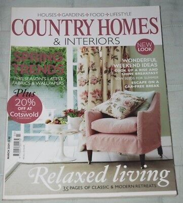 Vintage COUNTRY HOMES & INTERIORS  Magazine March 2009 Houses Gardens Lifestyle