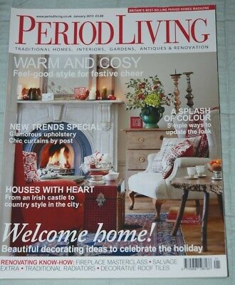 Vintage PERIOD LIVING Magazine January 2013 Traditional Homes Antiques Gardens