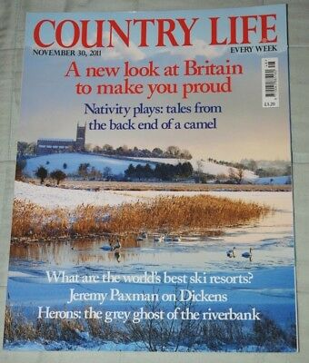 Vintage COUNTRY LIFE Magazine November 30, 2011 Countryside,  Art & Antiques