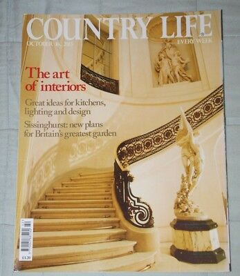 Vintage COUNTRY LIFE Magazine October 16, 2013 Interiors,  Art & Antiques