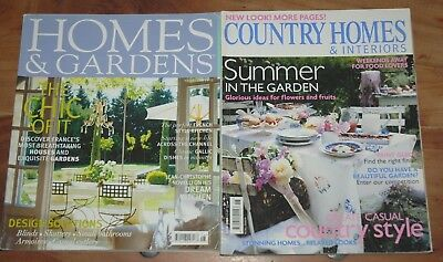 Vintage Magazines HOMES & GARDENS August 2005, COUNTRY HOMES & INTERIORS June 06