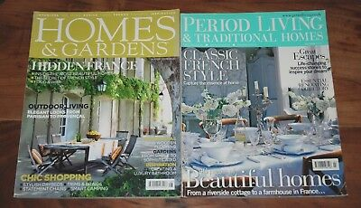 Vintage Magazines HOMES & GARDENS August 2008, PERIOD LIVING July 2005