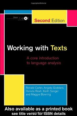 (Very Good)-Working with Texts: A Core Book for Language Analysis (Intertext) (P