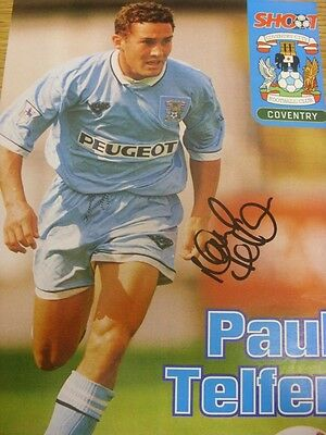 """circa 1990's Autograph: Coventry City - Paul Telfer [Approx 8""""x 11""""] Hand Signed"""