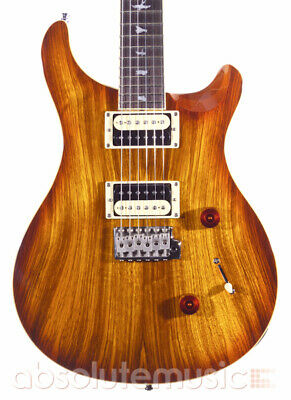 PRS SE Custom 24 Electric Guitar, Exotic Top Zebrawood, Sunburst (Pre-Owned)