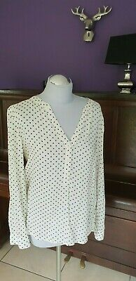 Bluse Divided H&M Gr. 36 creme Punkte Top !!