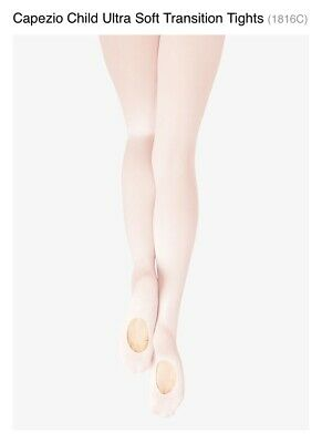 Capezio Ultra Soft Transition Tights Girls Size 8-12 BNWT