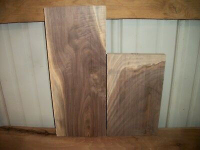 2 Pc Walnut Lumber Wood Kiln Dried Boards  Lot 39Z Flat Clear