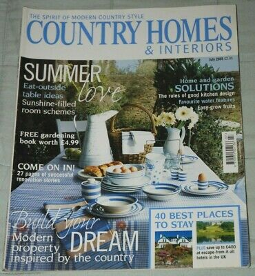 Vintage COUNTRY HOMES & INTERIORS Magazine, July 2005 - Summer