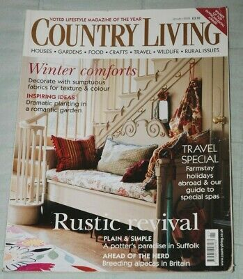 Vintage COUNTRY LIVING Magazine, January 2005 - New Year Winter