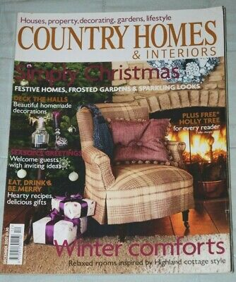 Vintage COUNTRY HOMES & INTERIORS Magazine, December 2007 - Christmas