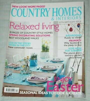 Vintage COUNTRY HOMES & INTERIORS Magazine, April 2006 - Spring Easter