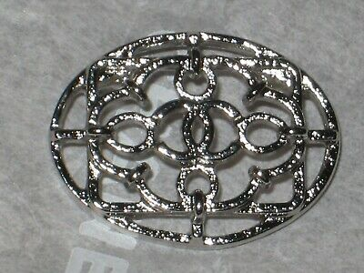 CHANEL  CC LOGO FRONT AUTH SILVER  BUTTON TAG 16 x 12 MM emblem NEW