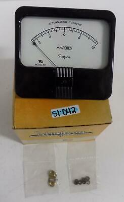 Simpson Model 59 0-10 Ac Amps Panel Meter 01330 Nib