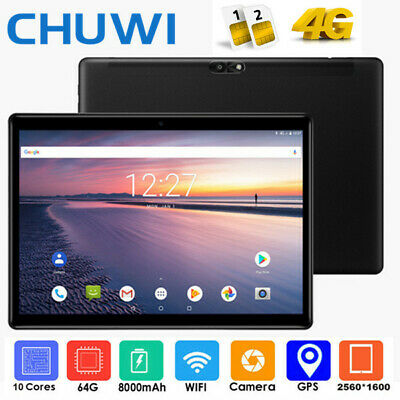 "WIFI+4G Lte CHUWI Hi9 Air 10.1""Android 8.0 4+64GB Tablet PC 13MP 64bit GPS BT TF"