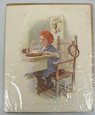 """Vintage 1923 Cream Of Wheat Ad """" Right Over Home Plate """""""