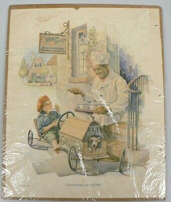 """Vintage 1924 Cream Of Wheat Ad """" Getting Up Steam """""""