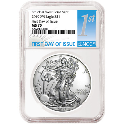 2019 (W) $1 American Silver Eagle NGC MS70 FDI First Label