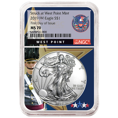 2019 (W) $1 American Silver Eagle NGC MS70 FDI West Point Core