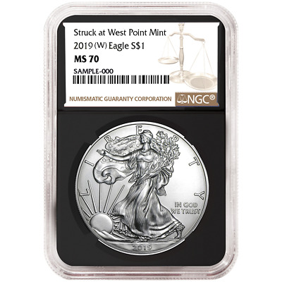 2019 (W) $1 American Silver Eagle NGC MS70 Brown Label Retro Core