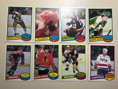Lot of 8 Rookie Hockey Cards 197980