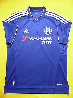1faab618a7e 5+ 5 Chelsea London 2015-2016 Adidas Original Home Football Soccer Jersey  Shirt