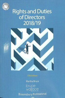 Rights and Duties of Directors 2018/19 by Martha Bruce 9781526506689 | Brand New