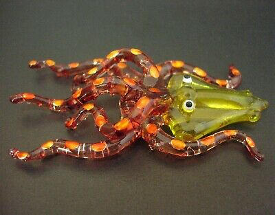 Curio Glass OCTOPUS Glass SQUID Glass Animal Decorative Glass Ornament Figure
