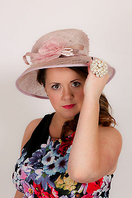 Purple ACCESSORIZE hat ASCOT Wedding Races Occasion Mother of bride