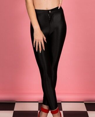 Vintage retro style girls black disco pants age 7-8 years River Island