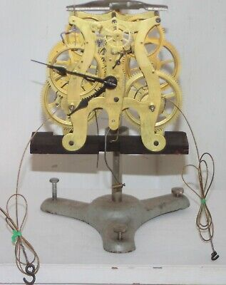 Antique Seth Thomas 8 Day Triple Decker Weight Driven Lyre Shaped Clock Movement