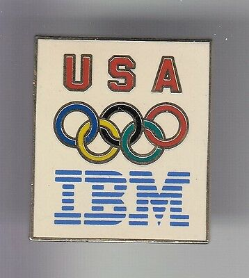 Rare Pins Pin's .. Olympique Olympic Albertville 1992 Ibm Team Usa Email Or ~17