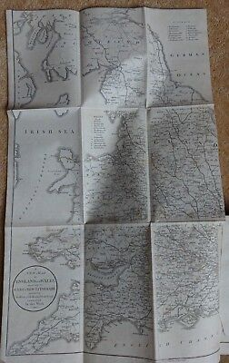 1805 Cary's Great Roads England Wales & Scotland Large Fold Out Map - Hasker @