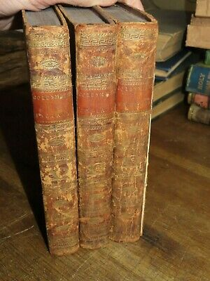 1807 History Of England Earliest Times To Death George Ii By Goldsmith 3 Vols*