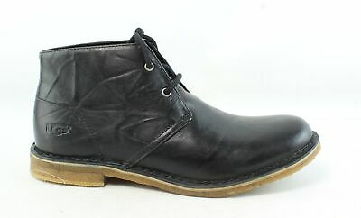UGG Mens Leighton Black Ankle Boots Size 9.5 (282586)