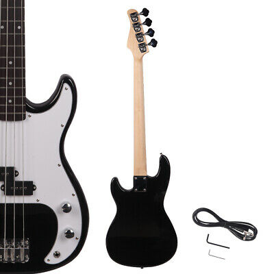New 4 String Stylish Black Basswood Right Handed Electric Bass Guitar
