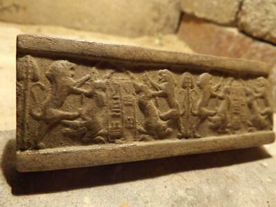 Sumerian cylinder seal impression - Akkadian cuneiform writing - King  ILULU