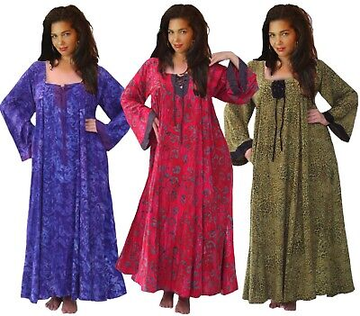 LOTUSTRADERS P577 MOROCCAN MAXI DRESS BATIK BOHO MADE TO ...