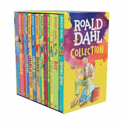 NEW The Roald Dahl Collection 15 Books Boxed Gift Library Set for Children