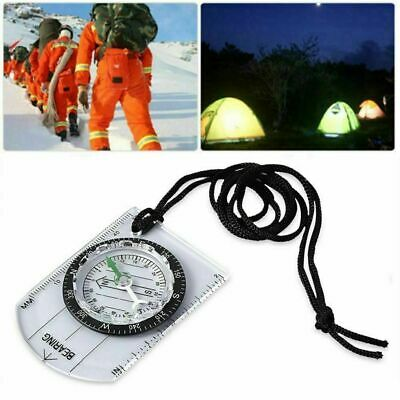 Portable Handheld Type Baseplate Compass Map Scale Ruler Hiking Military Compass