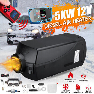 5KW 12V Diesel Air Heater Tank Vent Duct Thermostat Silencer Knob Switch Caravan