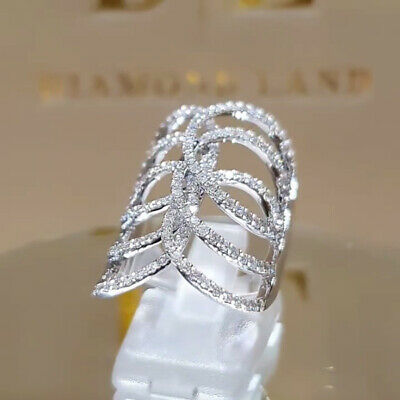 925 Silver 5 tiny diamond pieces of exquisite small fresh ladies engagement ring