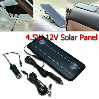 4.5W 12V Solar Panel Trickle Battery Charger Car Boat Yacht Outdoor Power Supply