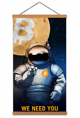 Monero XMR Crypto Cryptocurrency Print Poster Wall Art Decor A5 A4 A3
