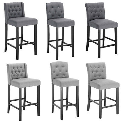 Bar Stools Set Of 2 Chairs Grey