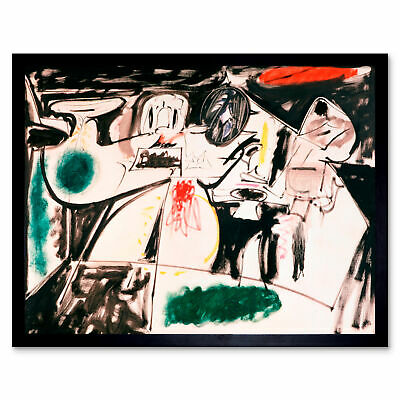 Gorky The Last Painting Abstract Expressionist Framed Wall Art Poster