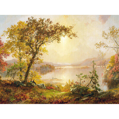 Florian Praterallee Autumn Vienna Trees Painting Canvas Wall Art Print Poster