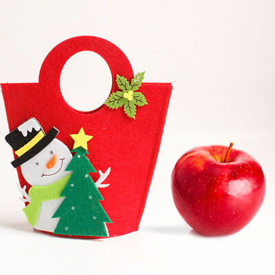 Red Bags Tote Containers Holders For Apples Sweets Decor Christmas Gifts YO