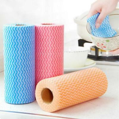 50 Pcs/roll Disposable Efficient Cleaning Cloth Wiping Multipurpose Towel Home Y