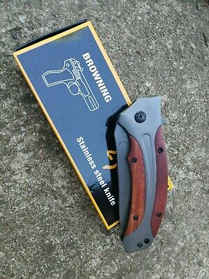 Browning Spring Assisted Folding Survival Pocket Knife Tactical Combat Army EDC